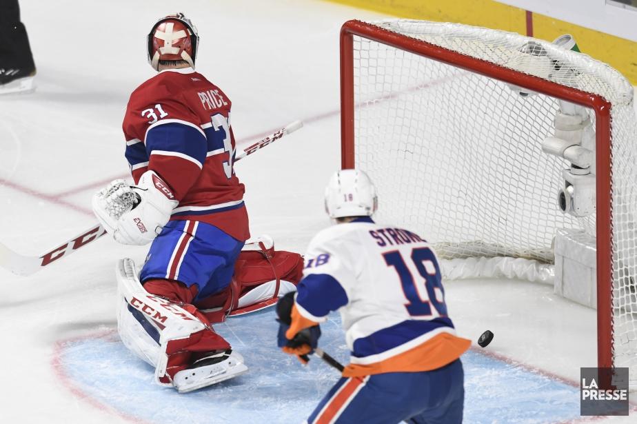 La rondelle franchit la ligne rouge: les Islanders...
