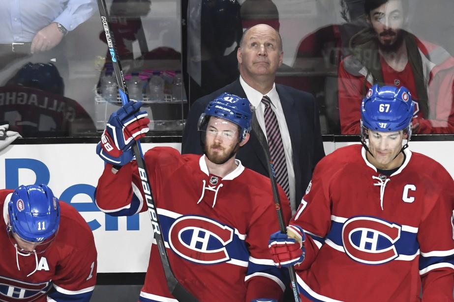 Le match de jeudi contre les Islanders était le 1000<sup>e</sup> en carrière pour l'entraîneur Claude Julien. (photo Bernard Brault, La Presse)