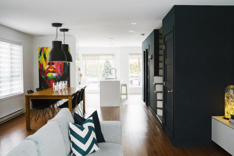 L'unité de coin de trois étages habitée par Dany et Stéphane est lumineuse et luxueuse. (Photo Marie-Christine Gobeil, collaboration spéciale)