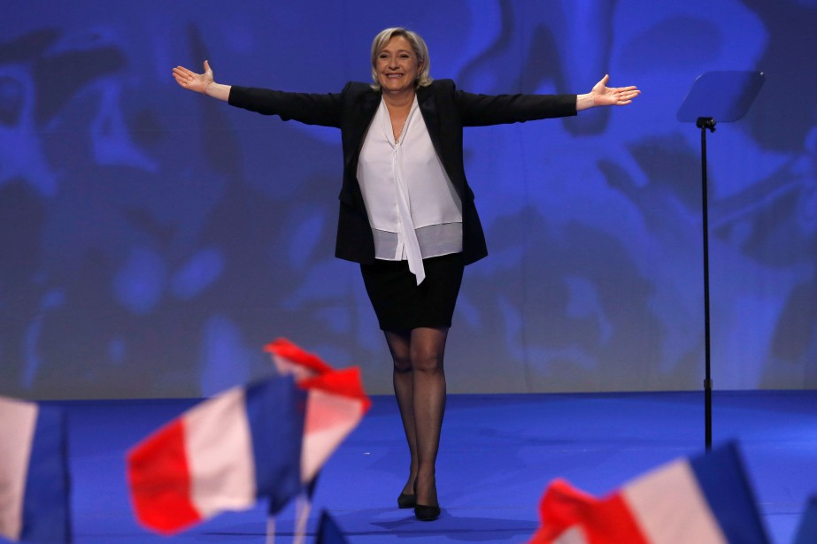 Marine Le Pen... (PHOTO STÉPHANE MAHÉ, REUTERS)