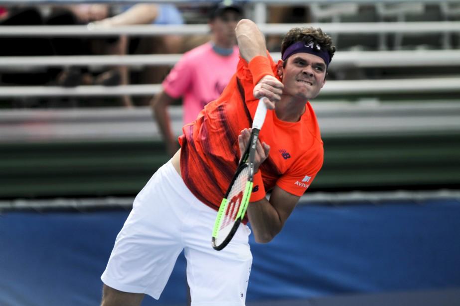 Milos Raonic... (Photo Randy Vazquez, archives AP/South Florida Sun-Sentinel)