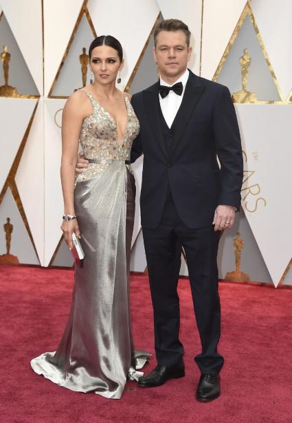 Luciana Barroso et Matt Damon (AP)