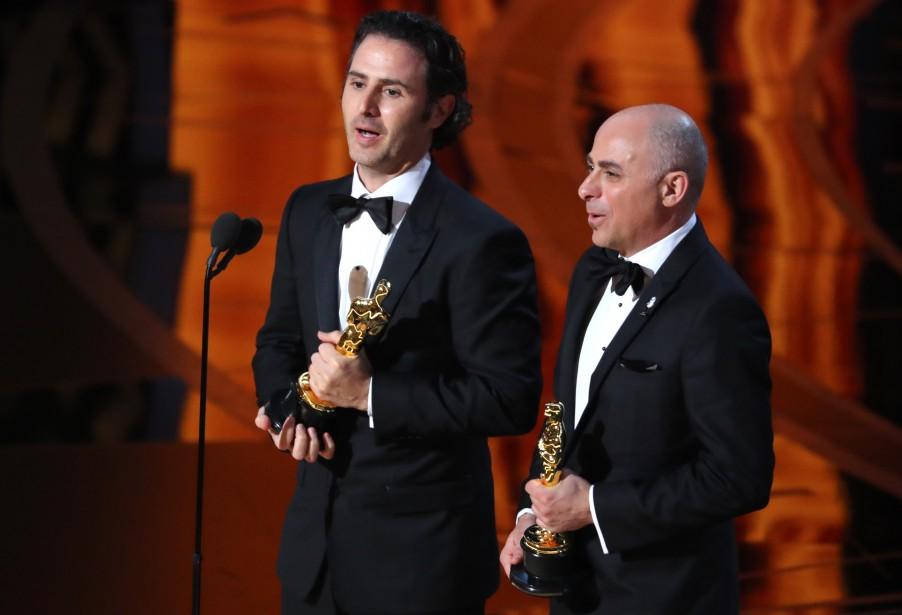 Alan Barillaro et Marc Sondheimer ont remporté l'Oscar du meilleur court métrage d'animation. (REUTERS)