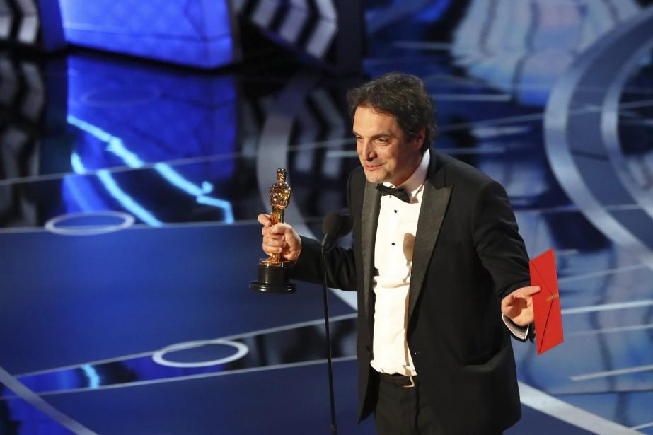 Le Québécois Sylvain Bellemare a remporté l'Oscar du meilleur montage sonore pour son travail sur <em>Arrival</em>de Denis Villeneuve. (THE NEW YORK TIMES)