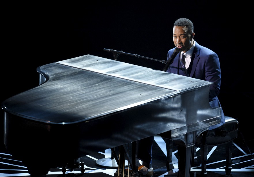 John Legend a interprété les chansons «City of Stars» et «Audition» du film Pour l'amour d'Hollywood. (AP, Chris Pizzello)