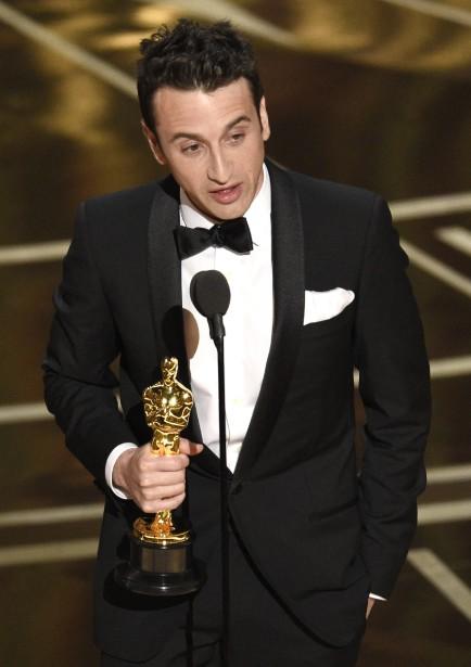 Justin Hurwitz a remporté deux Oscars : meilleure bande originale et meilleure chanson originale. Des récompenses attendues pour ce compositeur qui a fait renaître et modernisé le genre désuet des comédies musicales avec <em>La La Land</em>. (AP)