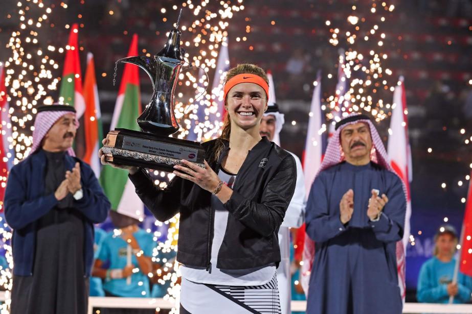 L'Ukrainienne Elina Svitolina a remporté le tournoi deDubaï,... (Photo Karim Sahib, AFP)
