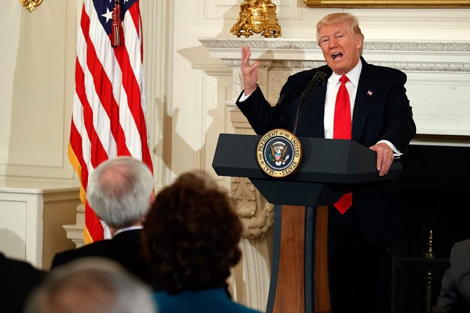 Évoquant un budget «de sécurité nationale», Donald Trump... (PHOTO EVAN VUCCI, ASSOCIATED PRESS)