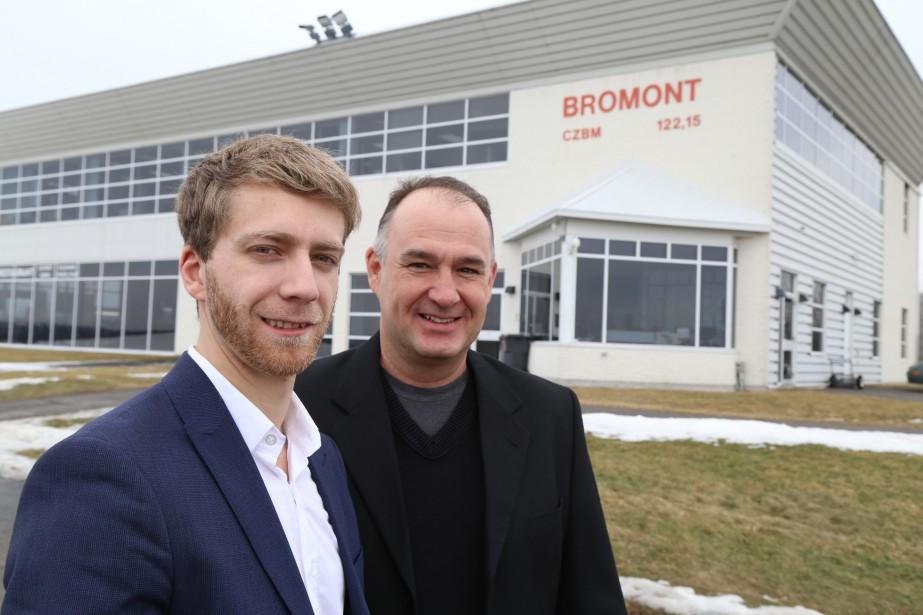 L'entreprise Zenith Altitude s'installe à l'aéroport de Bromont. Sur la photo, Mikaël Cardial et Robert Blais. | 27 février 2017