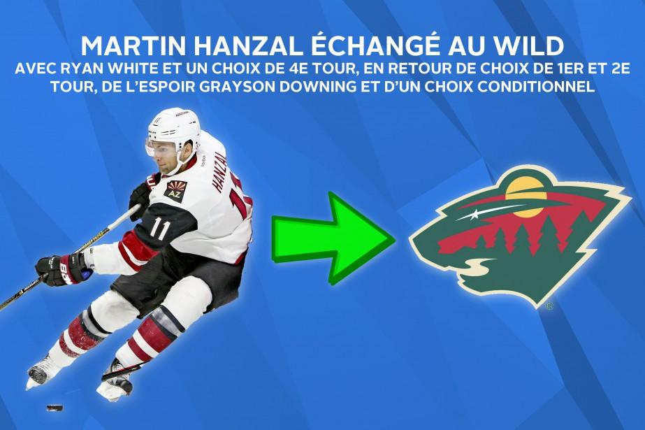 Le Wild a payé le gros prix pour obtenir le centre Martin Hanzal. ()