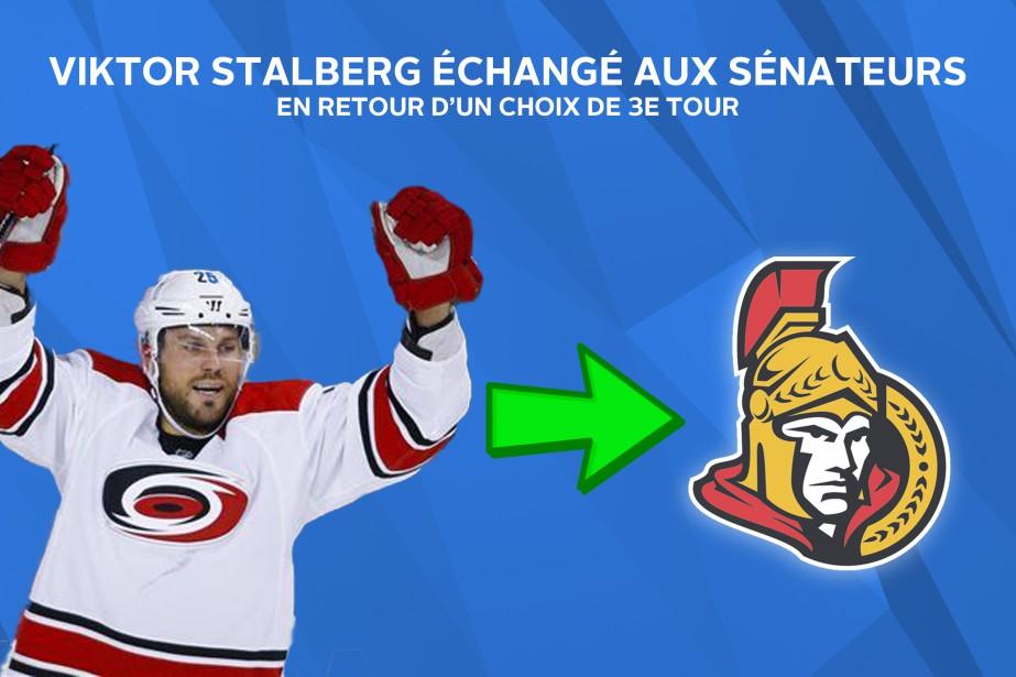 Viktor Stalberg finira la saison avec les Sénateurs. ()