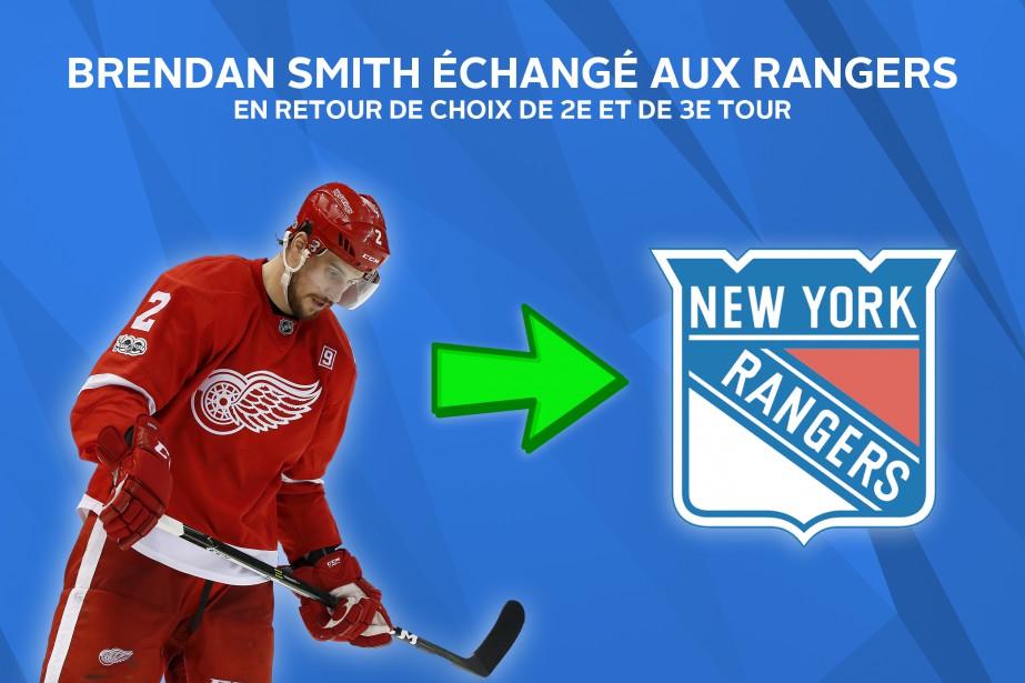 Brendan Smith poursuivra sa carrière à New York. ()