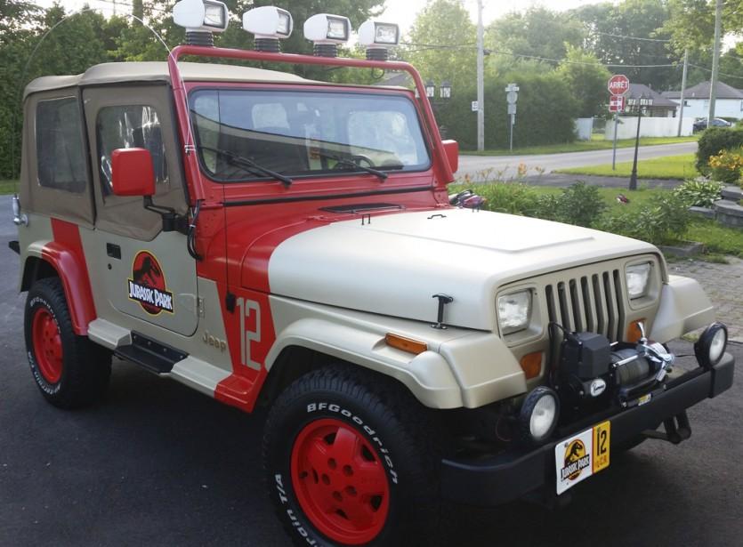 Jeep Wrangler YJ 1994, Édition Sahara du <i>Parc jurassique</i> (Fournie par le Salon de l'auto de Québec)