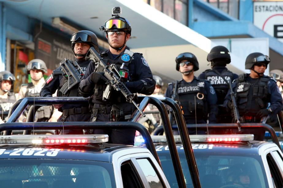 La sécurité militaire a été renforcée àVeracruz, où... (Photo EDUARDO MURILLO, AFP)
