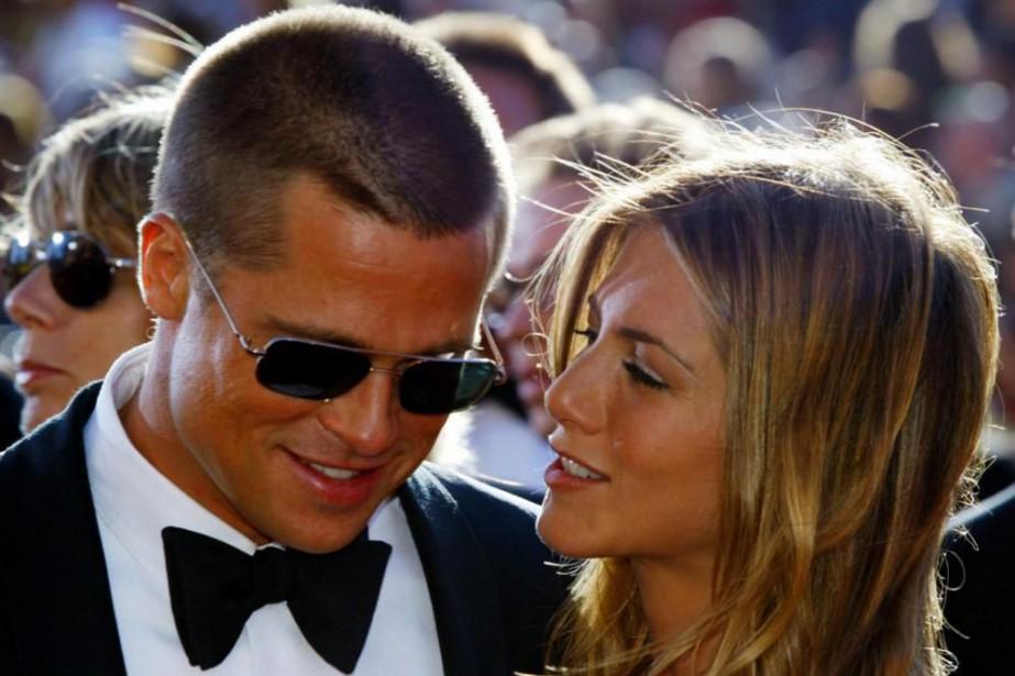 Brad Pitt et Jennifer Aniston en septembre 2004... (Photo Kimberly White, Archives Reuters)