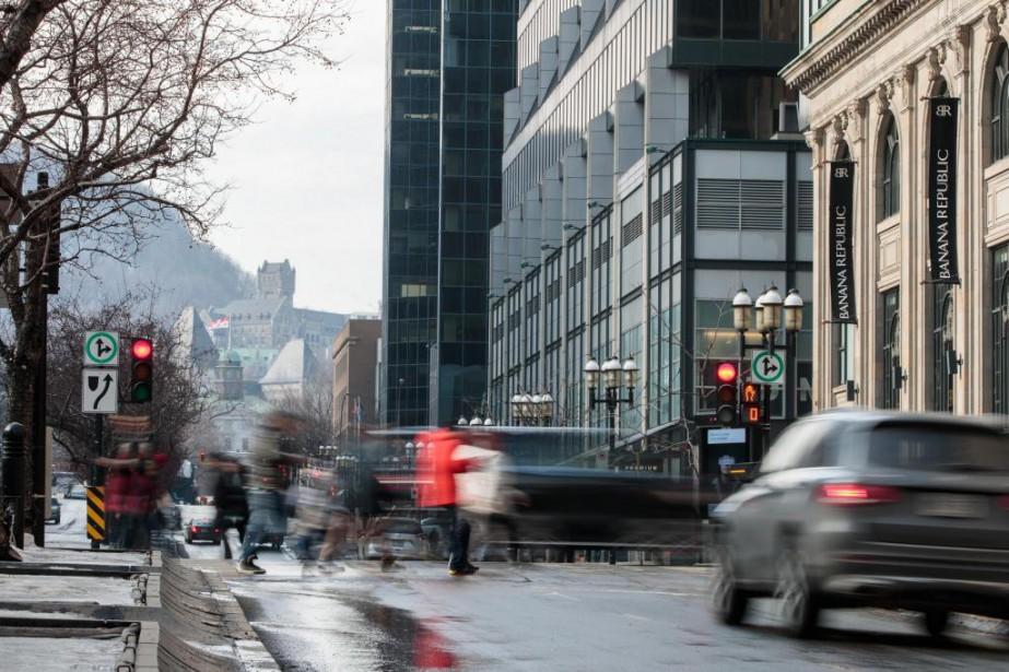 Montréal a connu une bonne croissance de l'emploi... (Photo Hugo-Sébastien Aubert, La Presse)