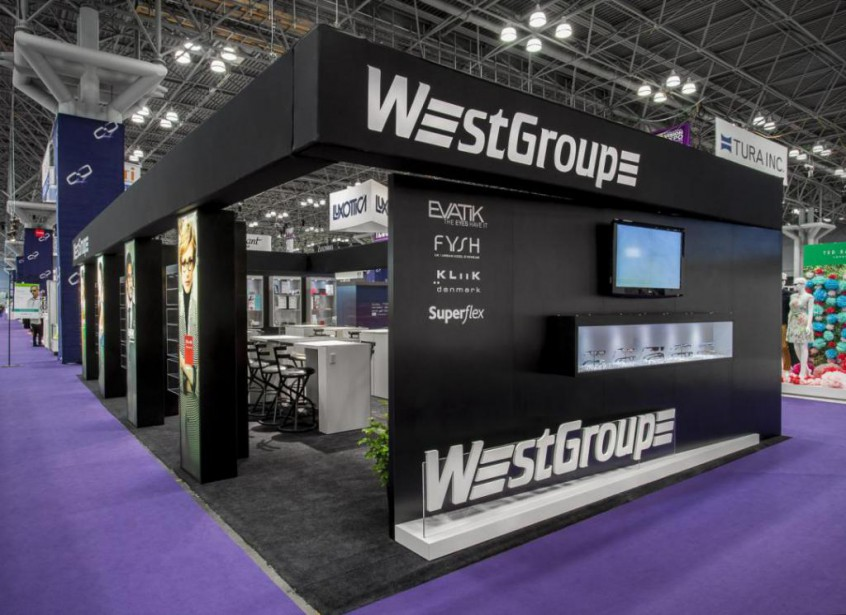Un stand conçu par Archex pour WestGroup lors... (Photo fournie par Archex)