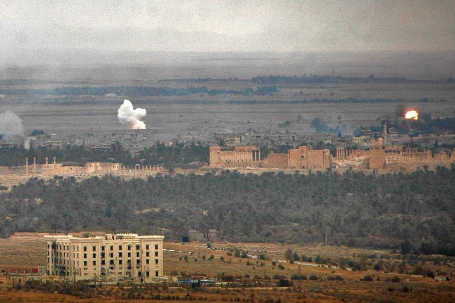 Les frappes américaines en Syrie se sont longtemps... (PHOTO ARCHIVES AFP)