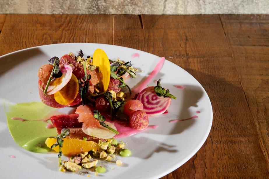 Salade de betteraves aux agrumes et aux pistaches... (Photo Alain Roberge, La Presse)