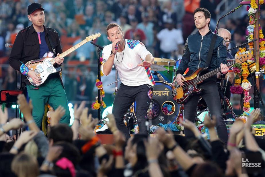 Coldplay en spectacle à la mi-temps du Super... (PHOTO ARCHIVES LA PRESSE)
