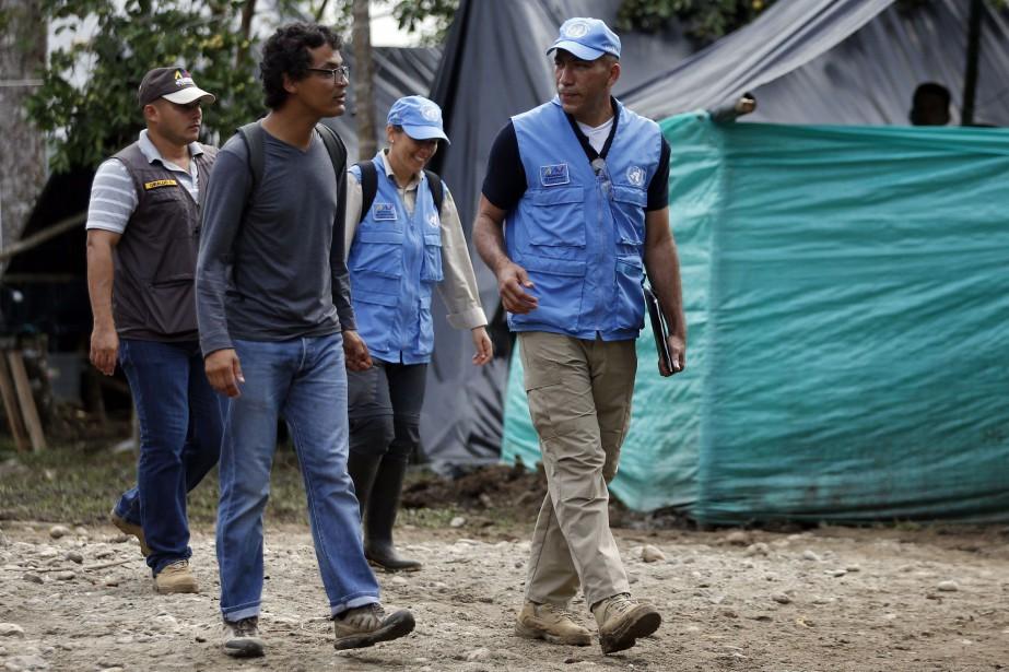 Un observateur de la mission des Nations unies... (PHOTO Fernando Vergara, AP)
