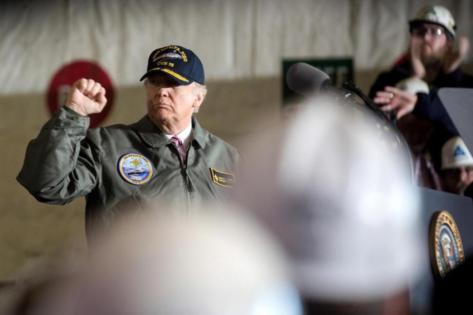 Le président américain Donald Trump prend la parole... (Photo Stephen Crowley, The New York Times)