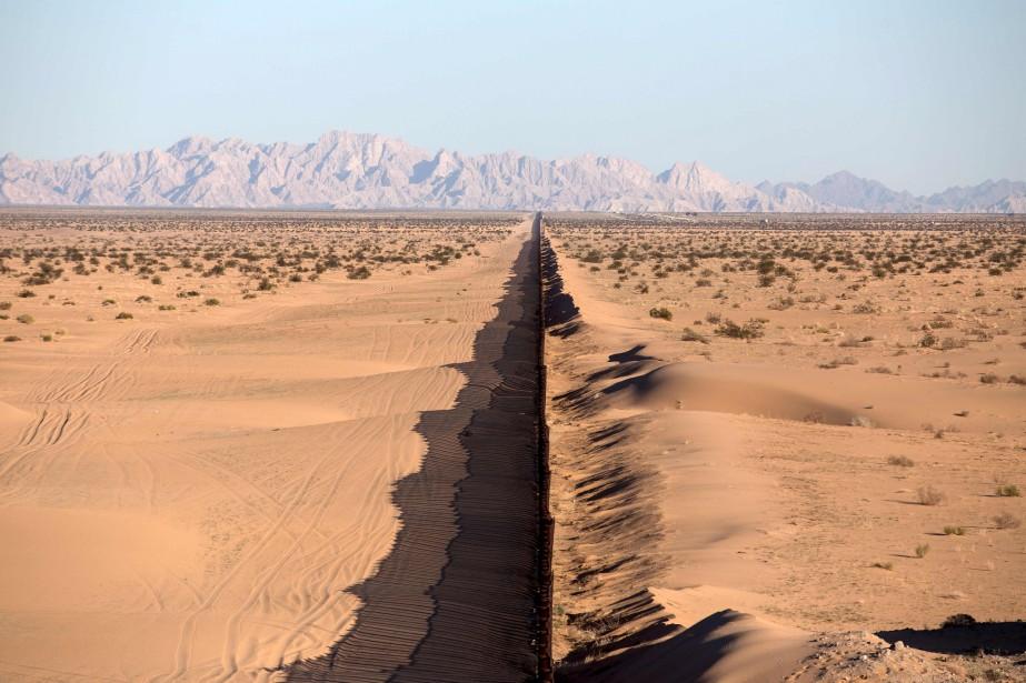 La frontière à San Luis Rio Colorado, dans l'État de Sonora, au nord-ouest du Mexique (AFP, Guillermo Arias)