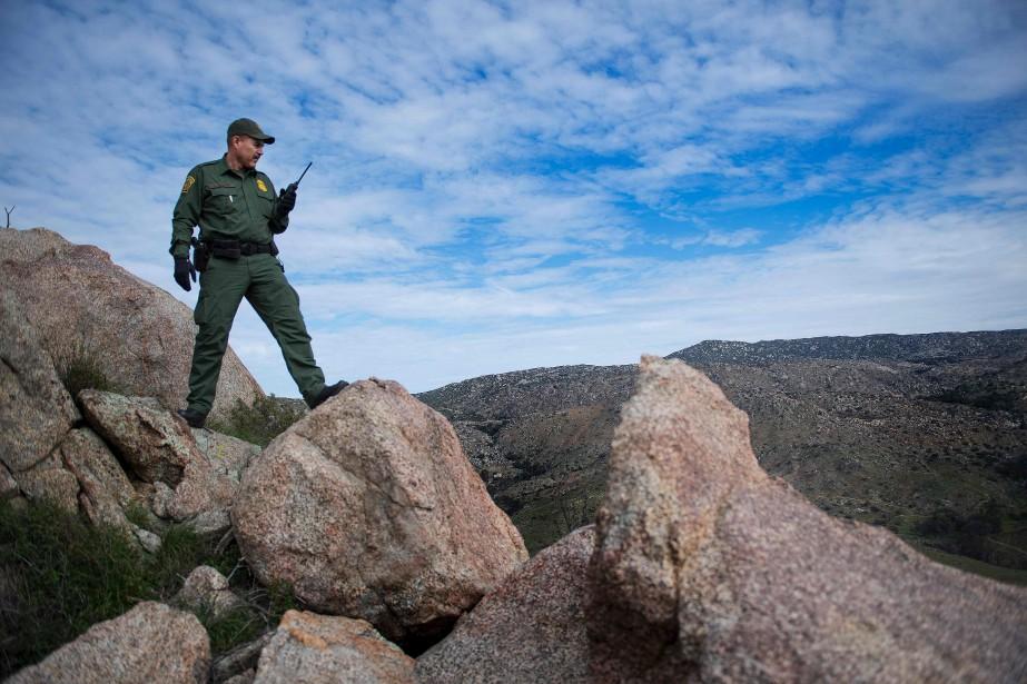 Le garde-frontière Lewis Barona, rencontré à Tecate, en Californie (AFP, Jim Watson)
