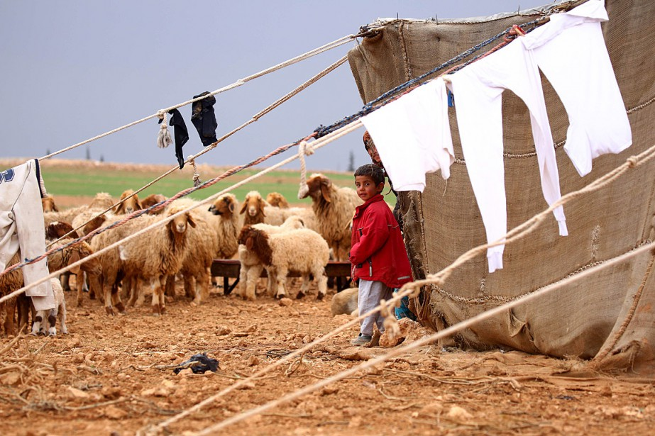 Un grand nombre de déplacés cherchent refuge à... (PHOTO DELIL SOULEIMAN, AGENCE FRANCE-PRESSE)