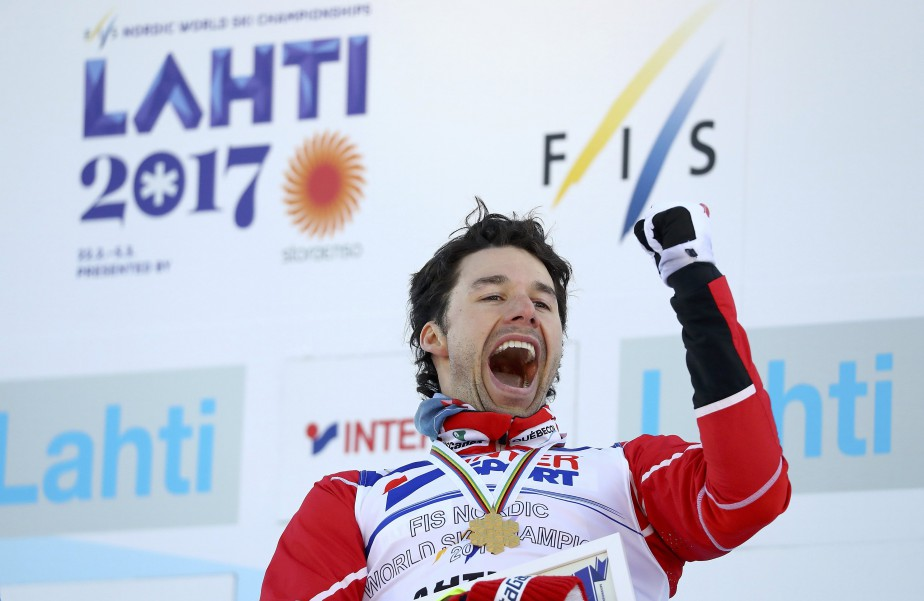 Alex Harvey a été sacré champion du monde au 50 km style libre. (Photo Kai Pfaffenbach, REUTERS)