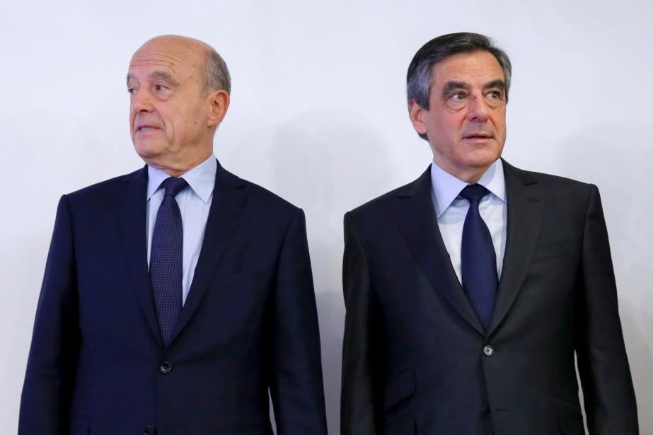 Alain Juppé et François Fillon en novembre 2016.... (REUTERS)