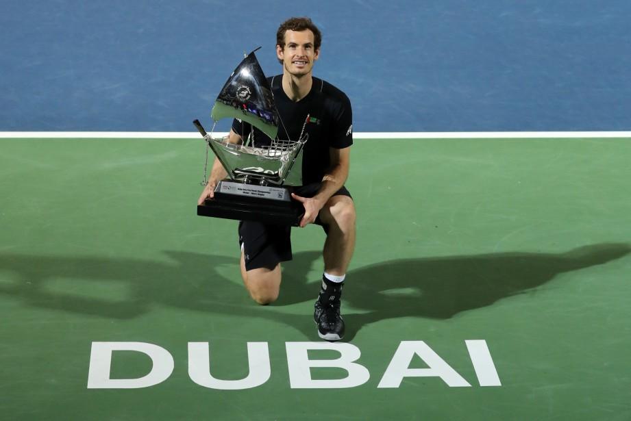 Andy Murray a remporté le tournoi de Dubaï,... (Photo Karim Shaib, AFP)