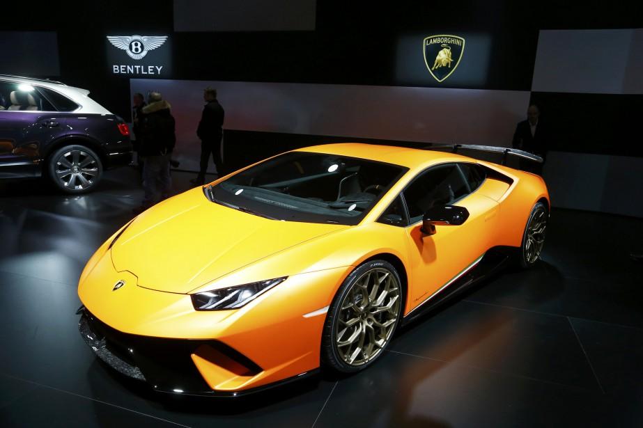 La Lamborghini Huracan Performante est exposée au 87e Salon international de l'auto de Genève. (REUTERS)