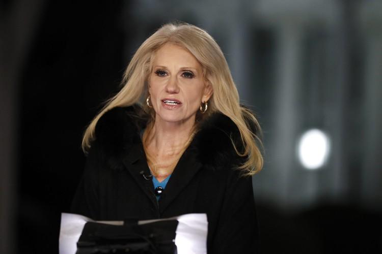 Kellyanne Conway a défendu Donald Trump sur les... (ARCHIVES AP)