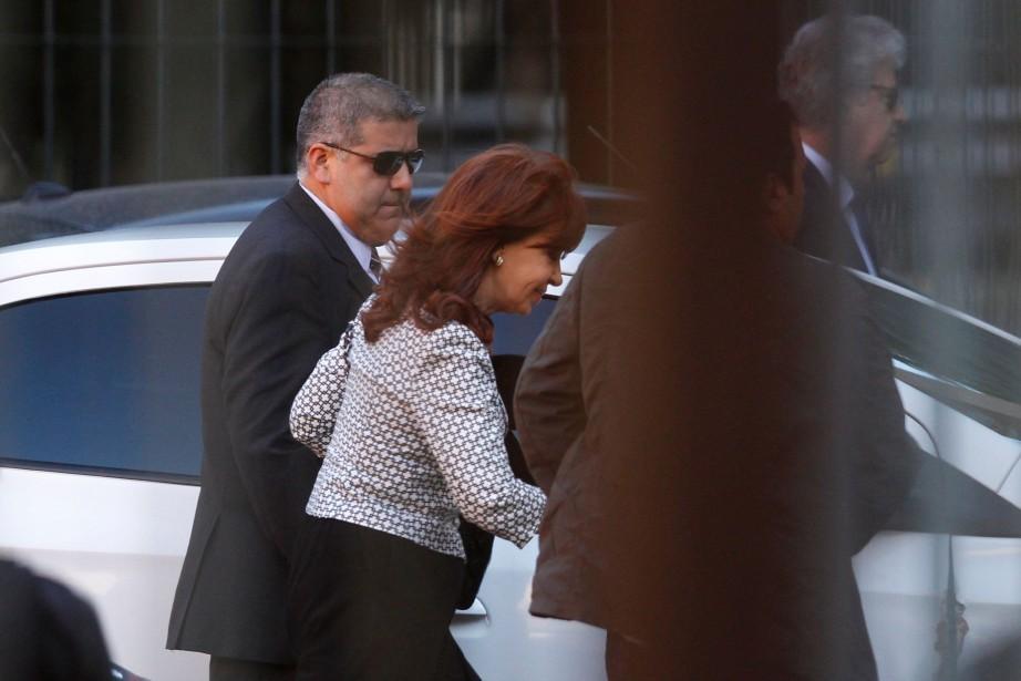 Sur la photo, Cristina Kirchner arrivant au tribunal... (Photo Martin Acosta, REUTERS)
