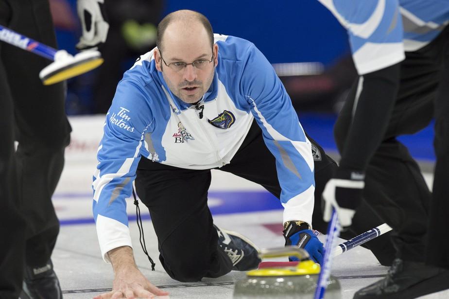 Le skip de l'équipe québécoise, Jean-Michel Ménard.... (Photo Andrew Vaughan, PC)