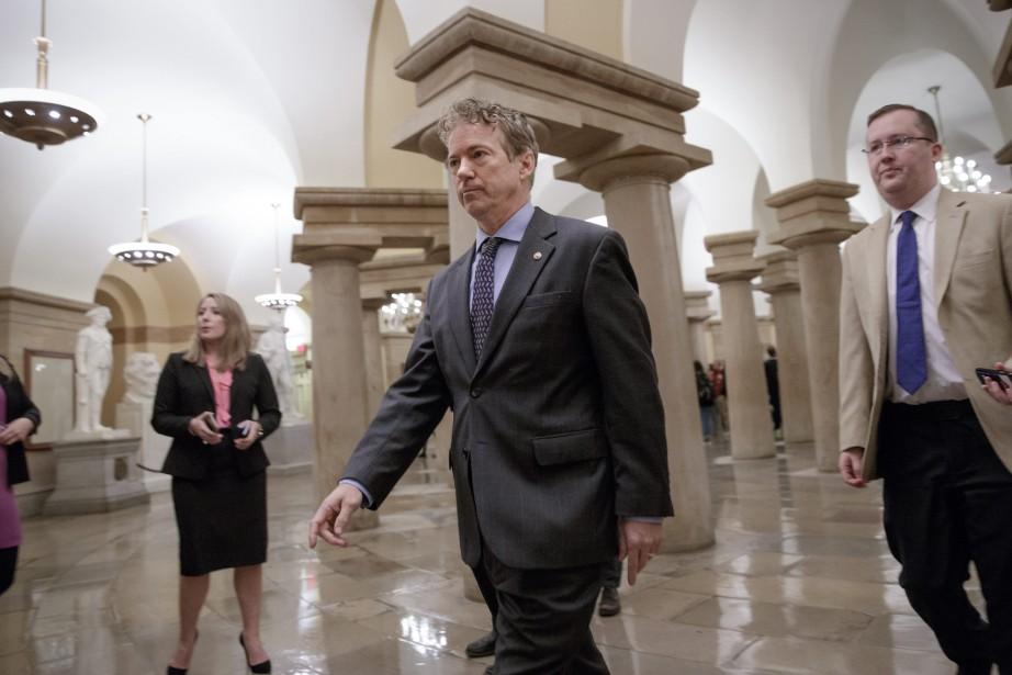 Selon Rand Paul (centre), les conservateurs n'accepteront jamais... (Photo J. Scott Applewhite, Archives AP)