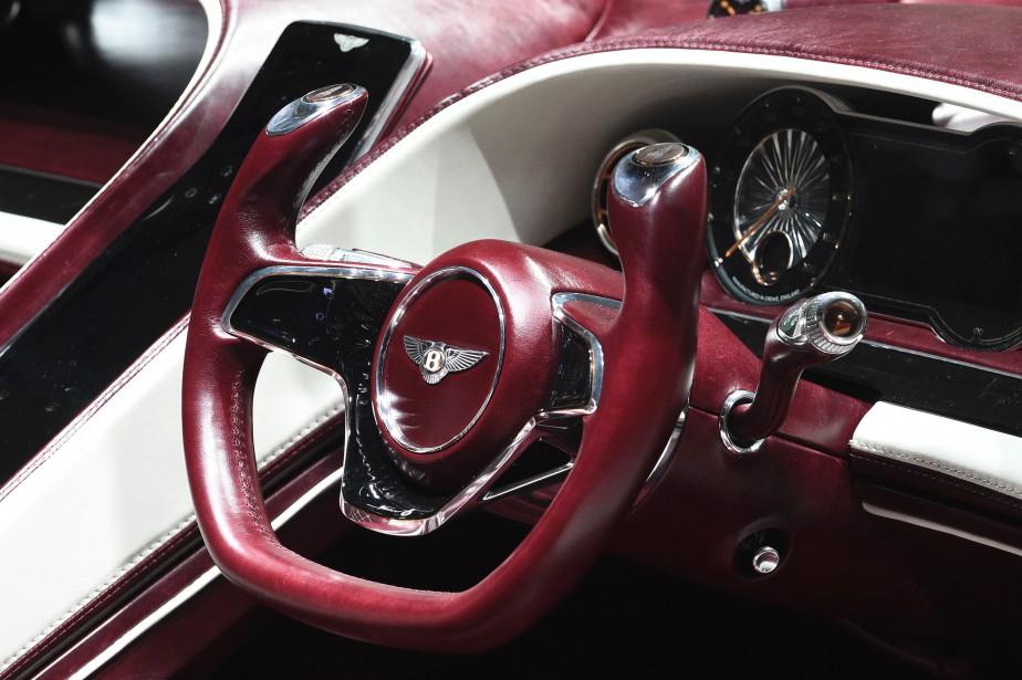 Le volant du prototype Bentley EXP 12. (AFP)