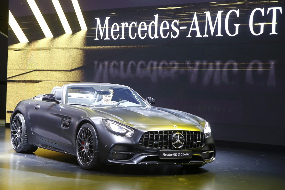 La nouveau cabriolet Mercedes-AMG GT C Roadster. (REUTERS)