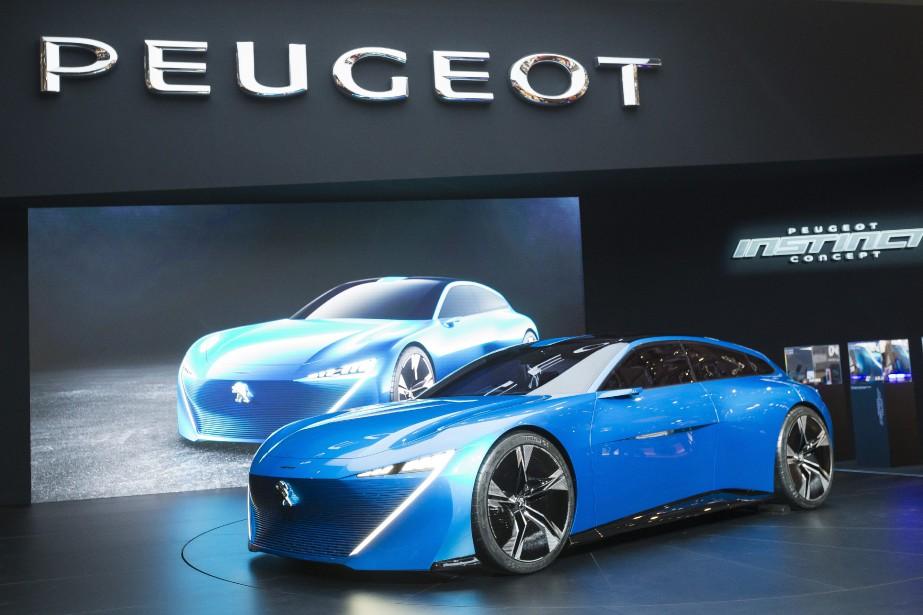 Le prototype Peugeot Instinct. (AP)