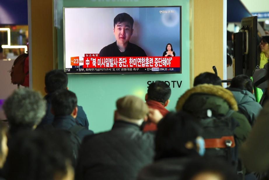 Dans la vidéo, l'homme s'exprime en anglais: «Je... (AFP)