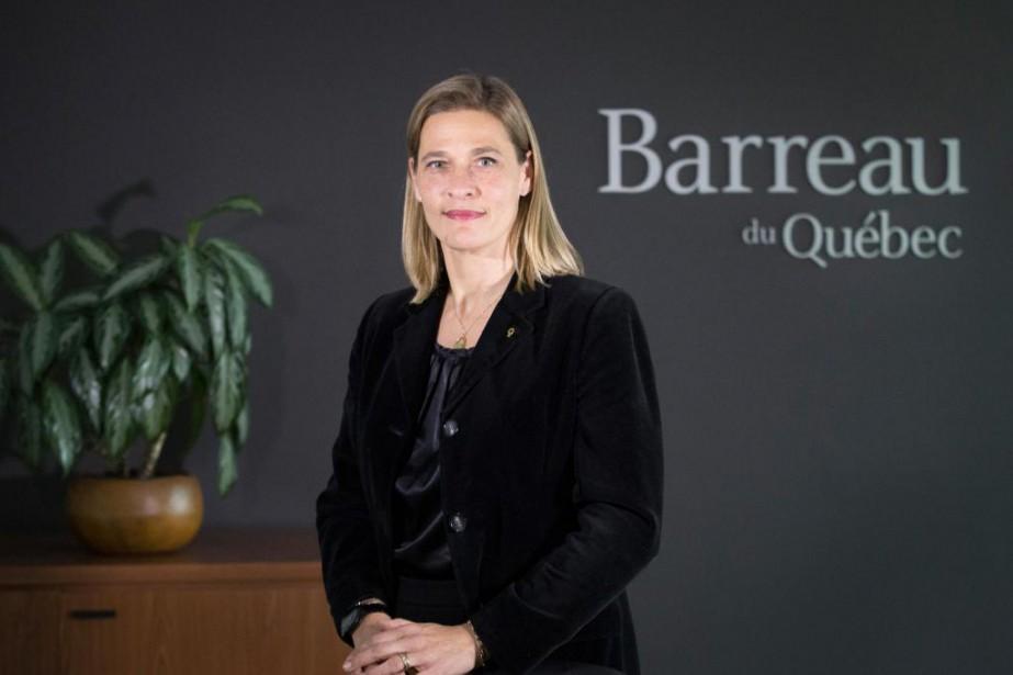 Me Claudia Prémont, actuelle bâtonnière du Quebec... (Photo IVANOH DEMERS, LA PRESSE)
