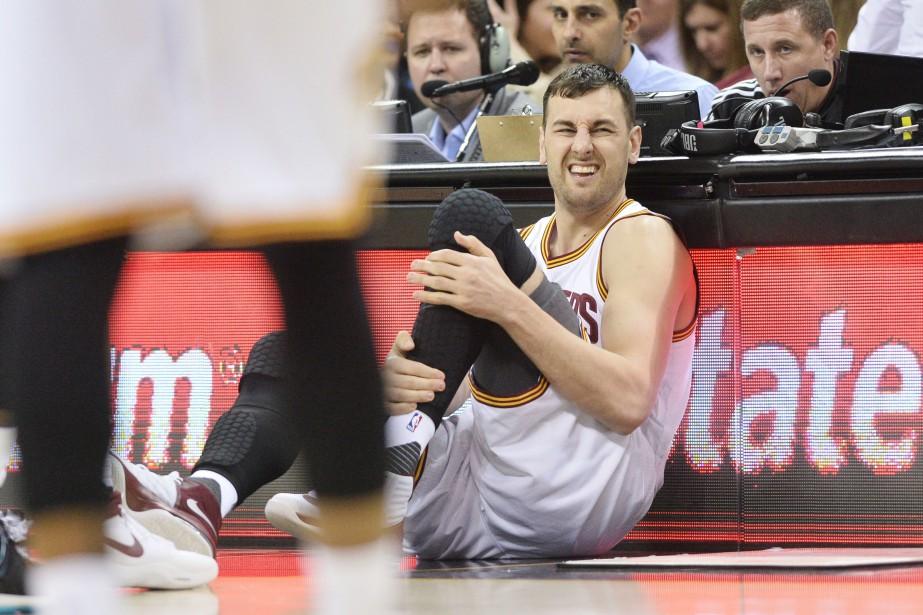 Andrew Boguts'est fracturé la jambe gauche, lundi.... (Photo Ken Blaze, USA Today Sports)
