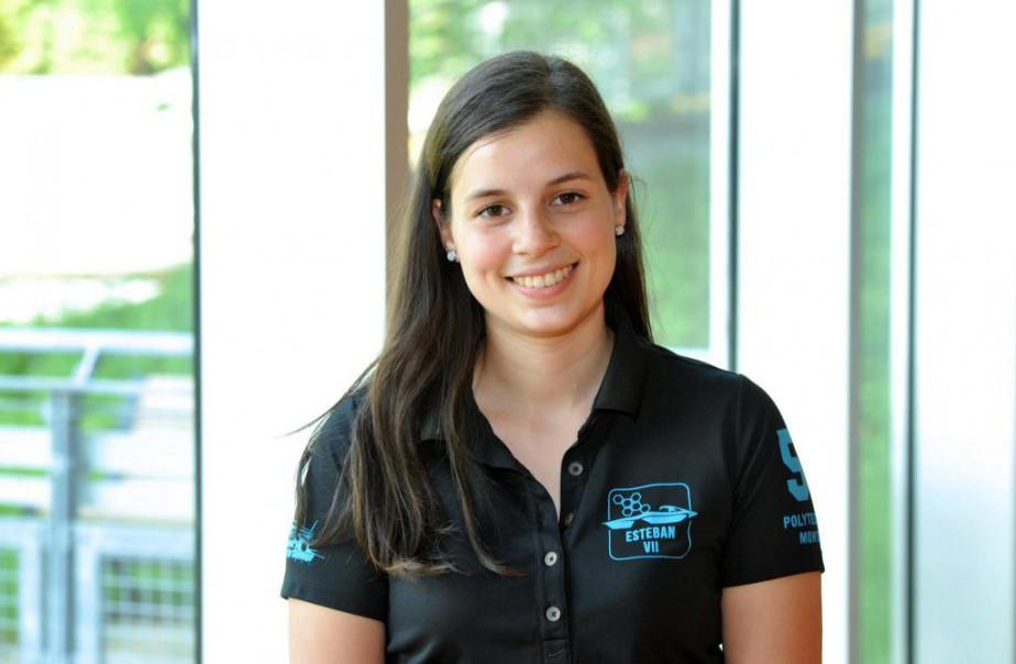 Finissante en génie physique à l'école Polytechnique, Amanda Hébert s'est impliquée dans le projet Esteban, une voiture solaire ultralégère participant à des compétitions internationales. (PHOTO FOURNIE PAR AMANDA HÉBERT)