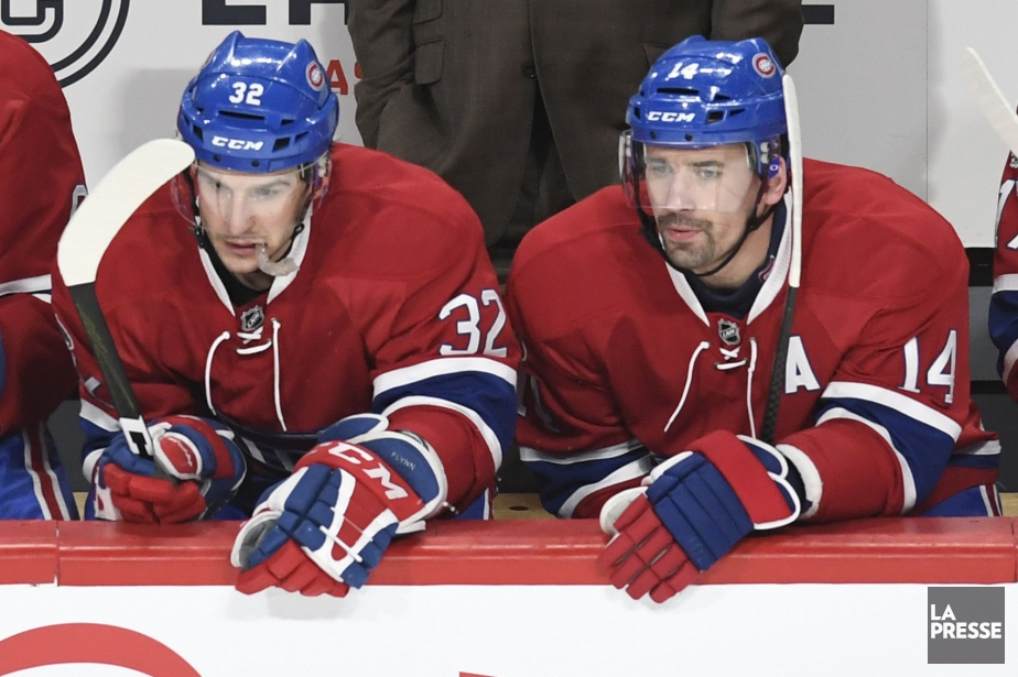 Brian Flynn et Tomas Plekanec... (Photo Bernard Brault, archives La Presse)