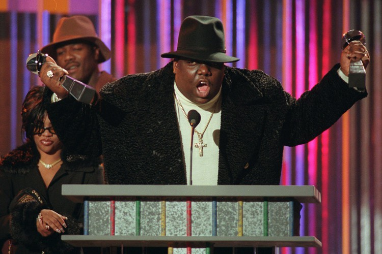 Notorious B.I.G. lors des Billboard Music Awards, à... (ARCHIVES AP)