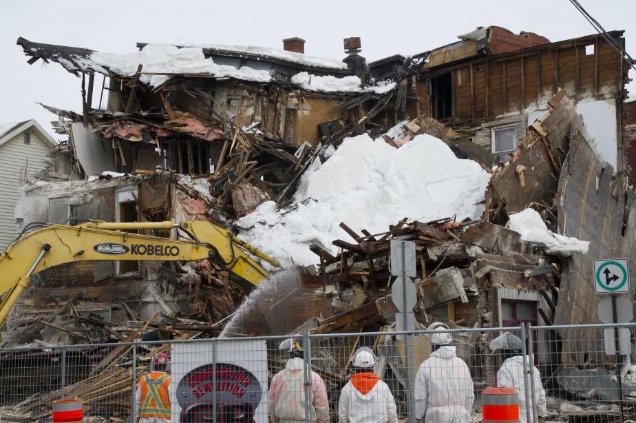 Opération de démolition de l'hôtel de La Salle, le jeudi 9 mars. | 10 mars 2017