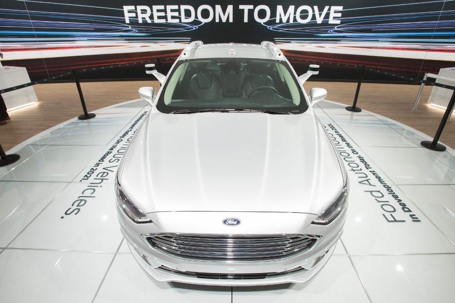 La Ford Fusion autonome a été présentée au dernier salon de Détroit, en janvier. (AFP)