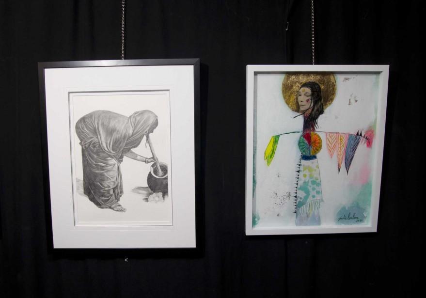 Oeuvres de l'exposition<em>Autour de la journée de la femme.</em> (Sylvain Mayer)