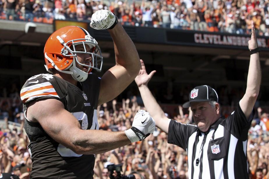 Jordan Cameron a notamment joué pour les Browns... (Photo Aaron Josefczyk, archives REUTERS)